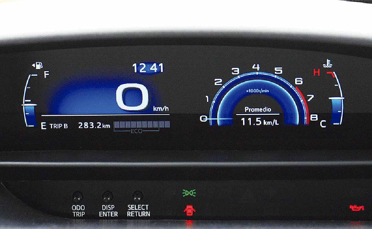 Toyota Etios Sedan XLS tablero
