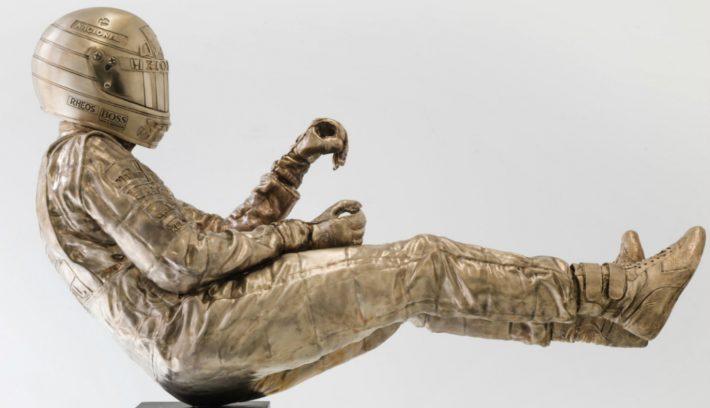 Paul Oz bronze Ayrton Senna sculpture 01