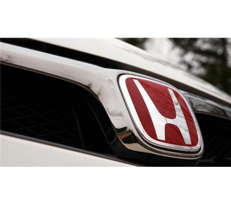 most honda genuine type r front rear h red chrome logo emblem made in japan pair