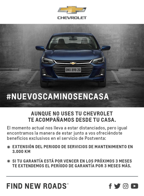 Chevrolet Extiende Periodos de Servicio y Garantías para sus clientes 1