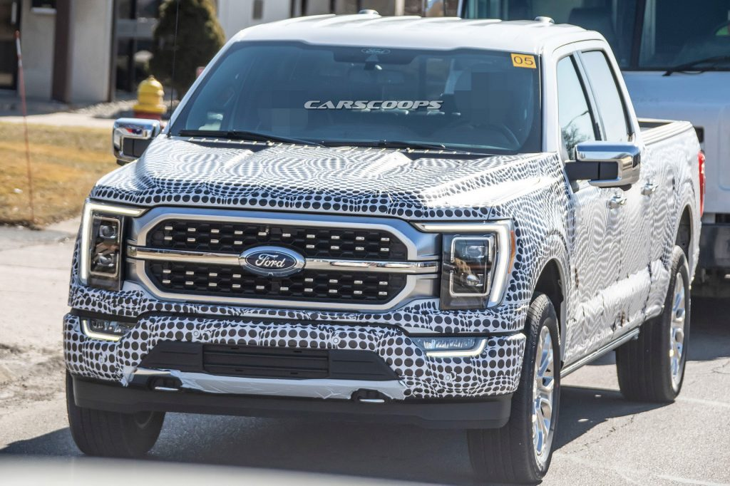 2021 ford f150 prototype spy 1