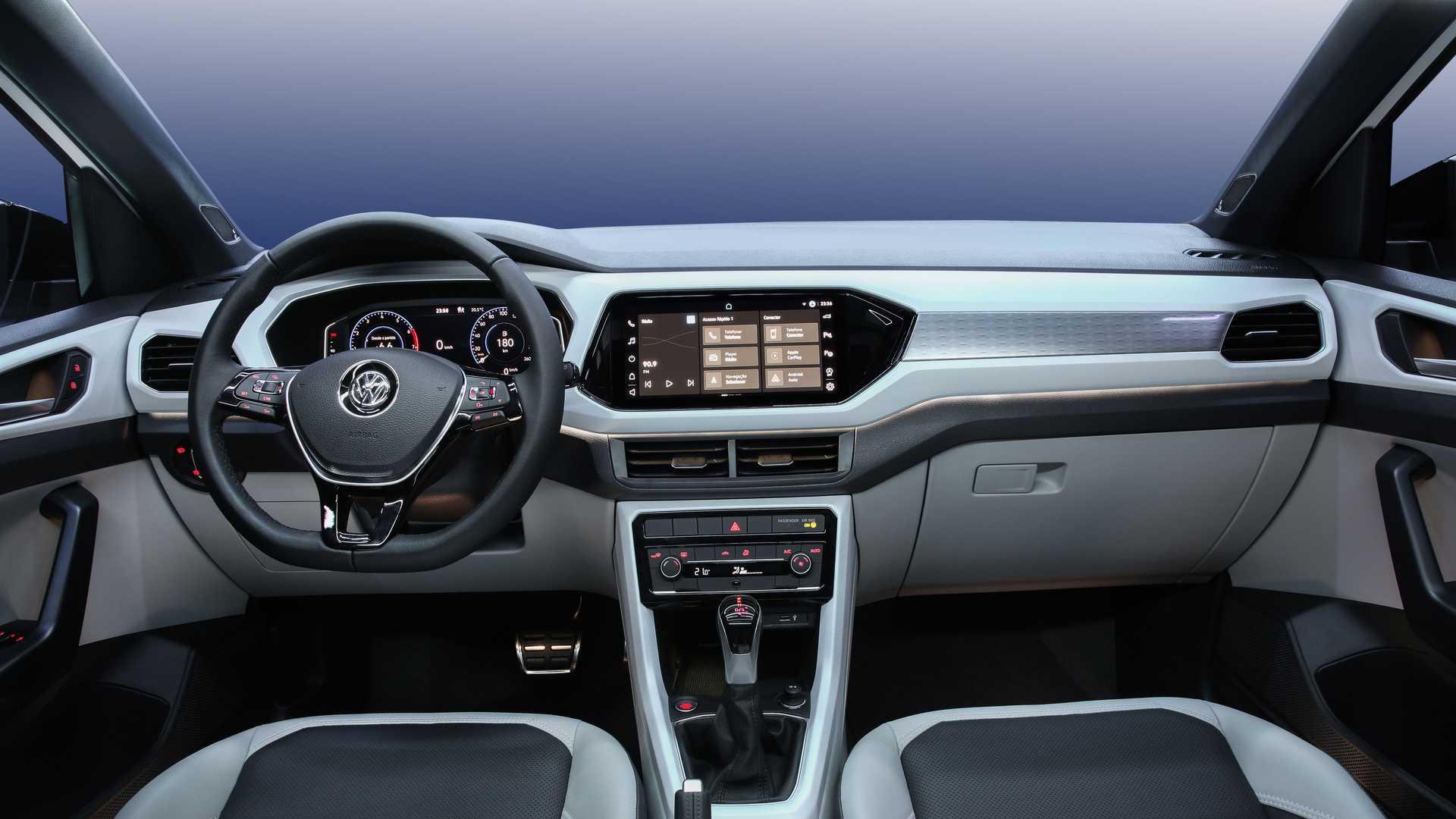 Así será el interior de la nueva VW T-Cross que llegará a la Argentina en el 2021
