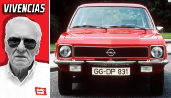 Opel Ascona cobertura carreras trompa