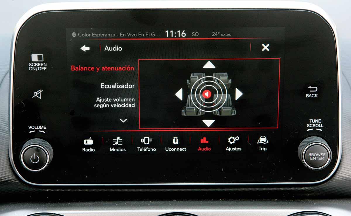 Fiat Argo Precision Pack Premium pantalla